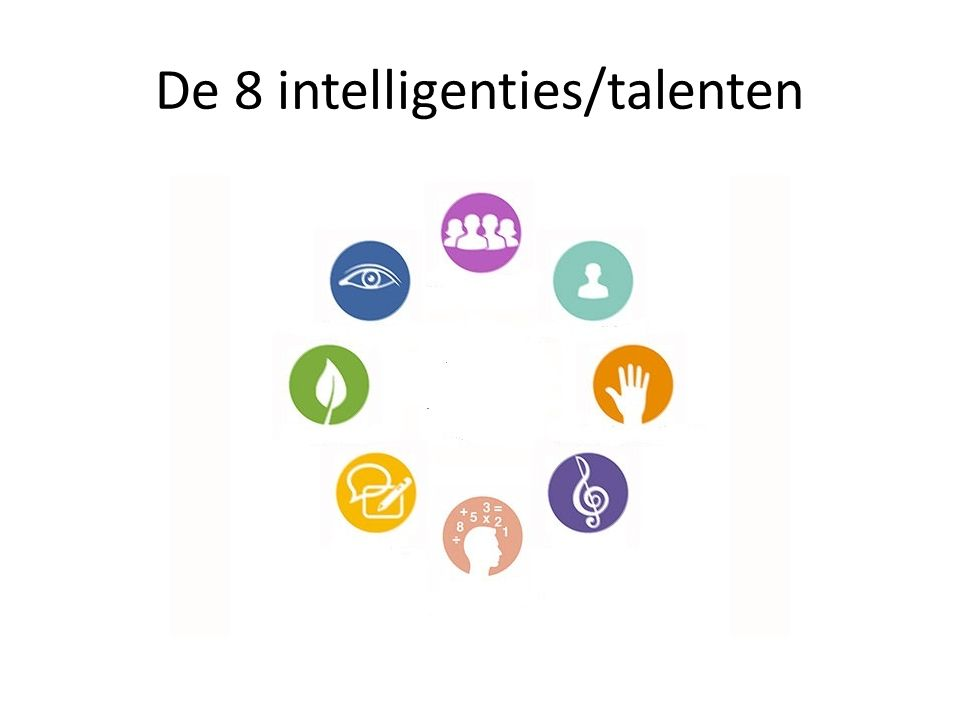 De 8 intelligenties/talenten