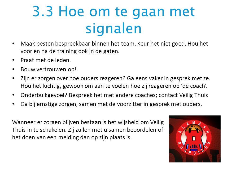 3.3 Hoe om te gaan met signalen