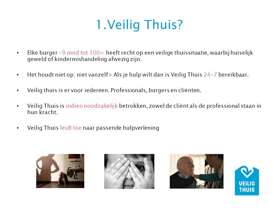 1.Veilig Thuis Elke burger -9 mnd tot 100+ heeft recht op een veilige thuissituatie, waarbij huiselijk geweld of kindermishandeling afwezig zijn.