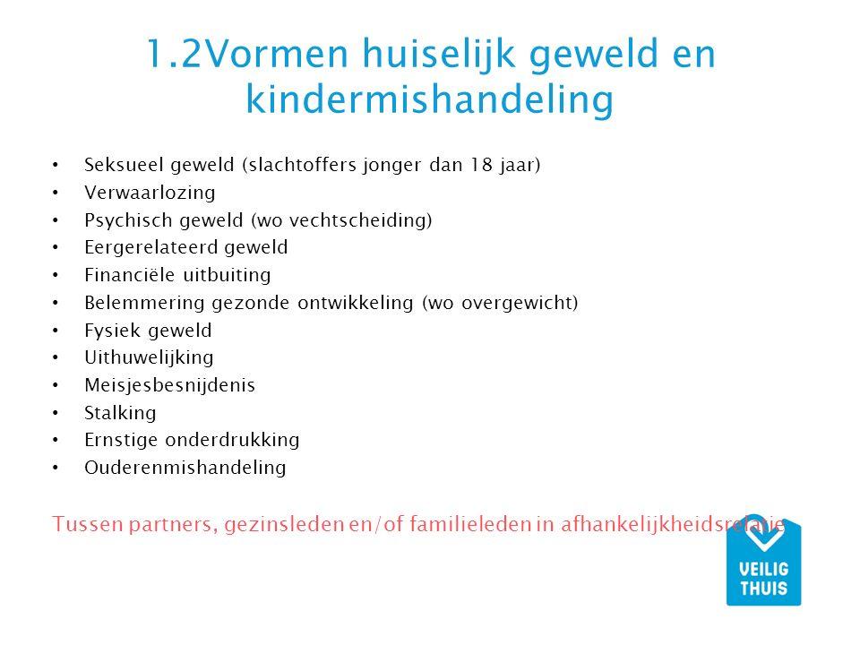 1.2Vormen huiselijk geweld en kindermishandeling