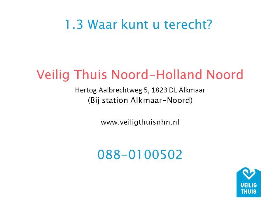 Veilig Thuis Noord-Holland Noord