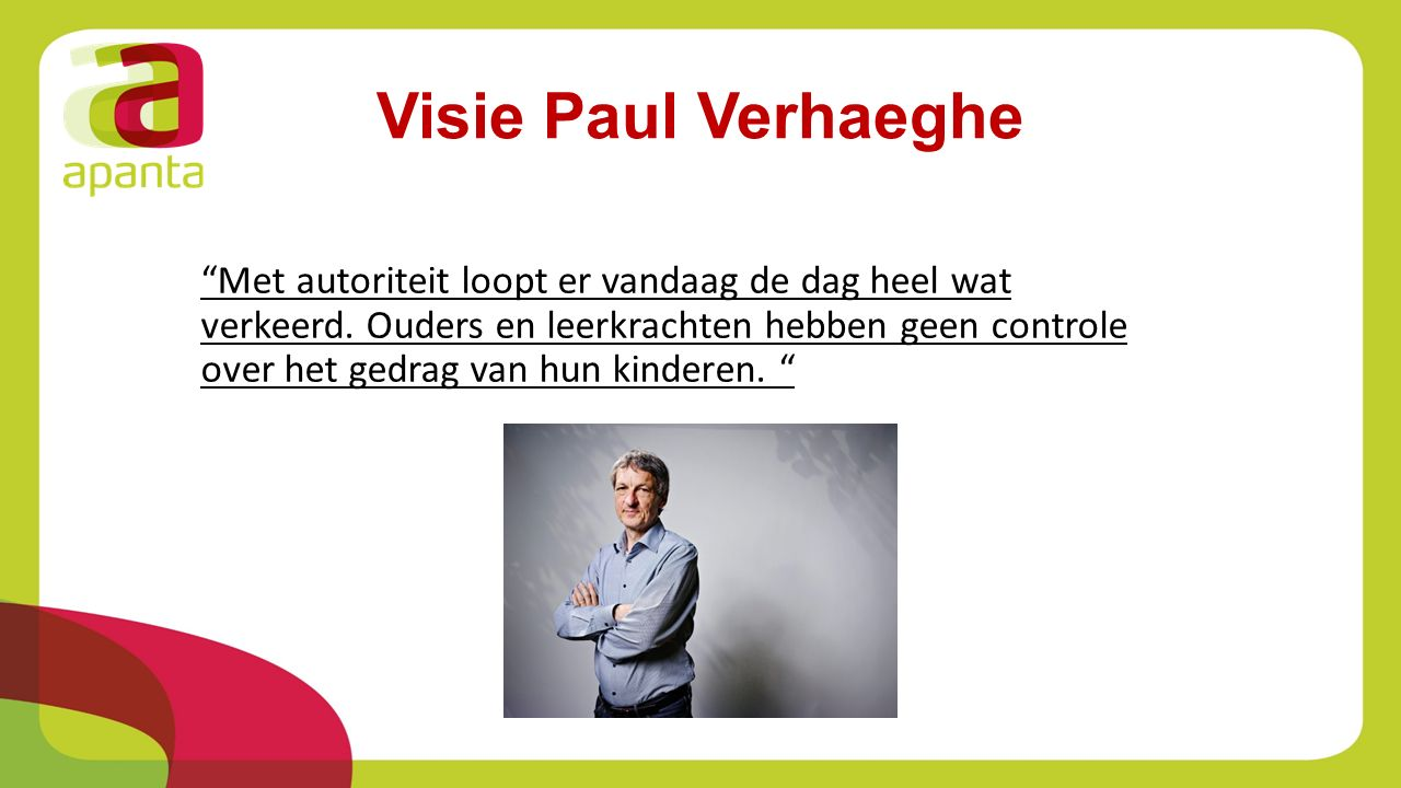 Visie Paul Verhaeghe