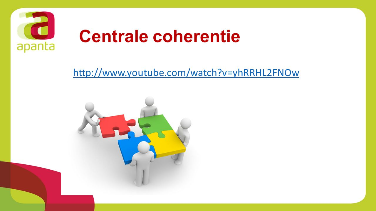 Centrale coherentie http://www.youtube.com/watch v=yhRRHL2FNOw