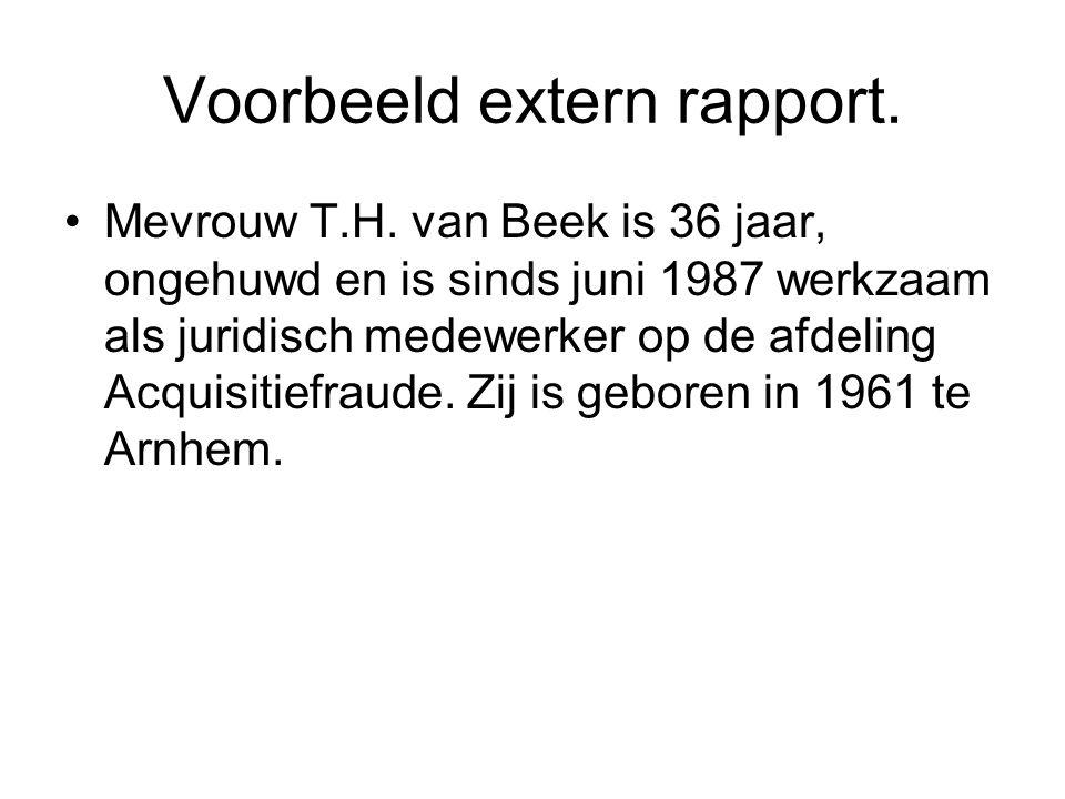 Voorbeeld extern rapport.