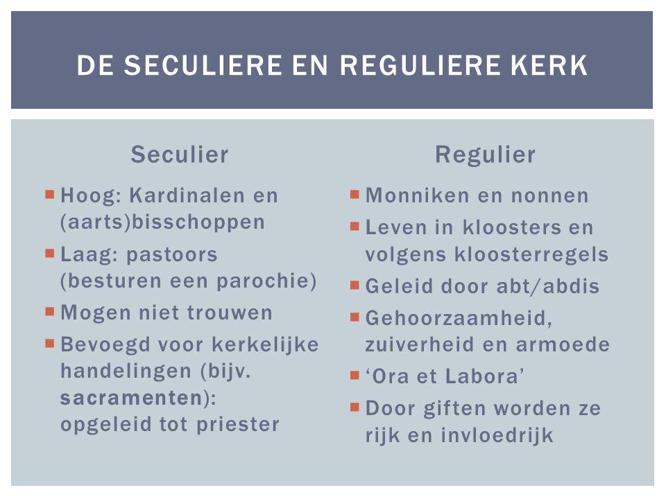 De seculiere en Reguliere kerk