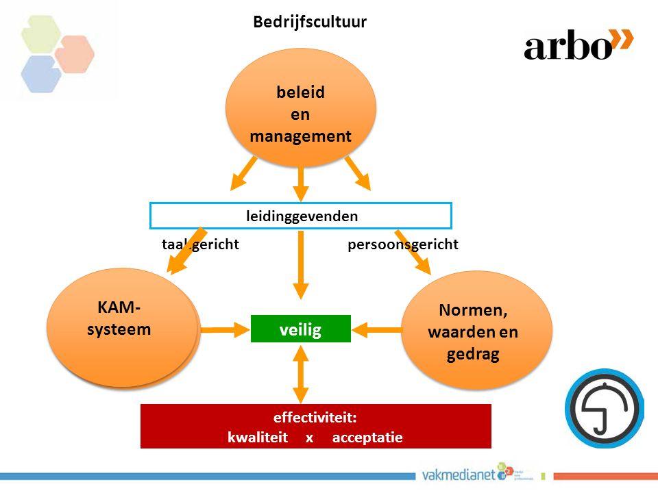 Normen, waarden en gedrag effectiviteit: kwaliteit x acceptatie