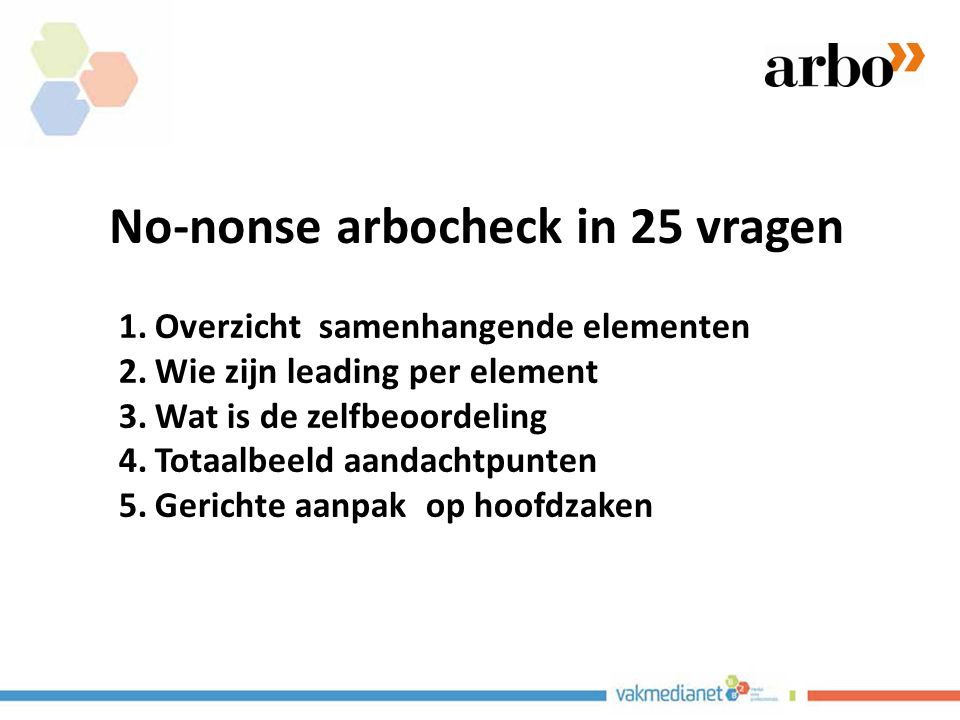 No-nonse arbocheck in 25 vragen