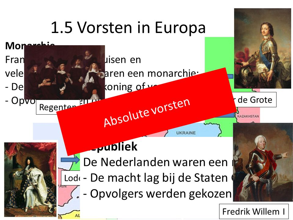 1.5 Vorsten in Europa Absolute vorsten