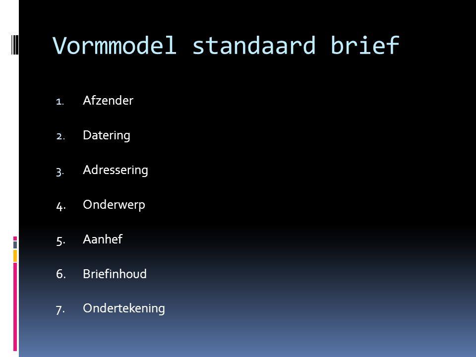 Vormmodel standaard brief