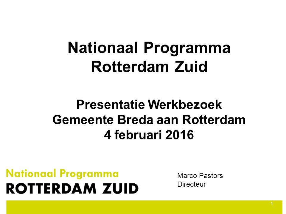 Nationaal Programma Rotterdam Zuid Presentatie Werkbezoek Gemeente Breda aan Rotterdam 4 februari 2016