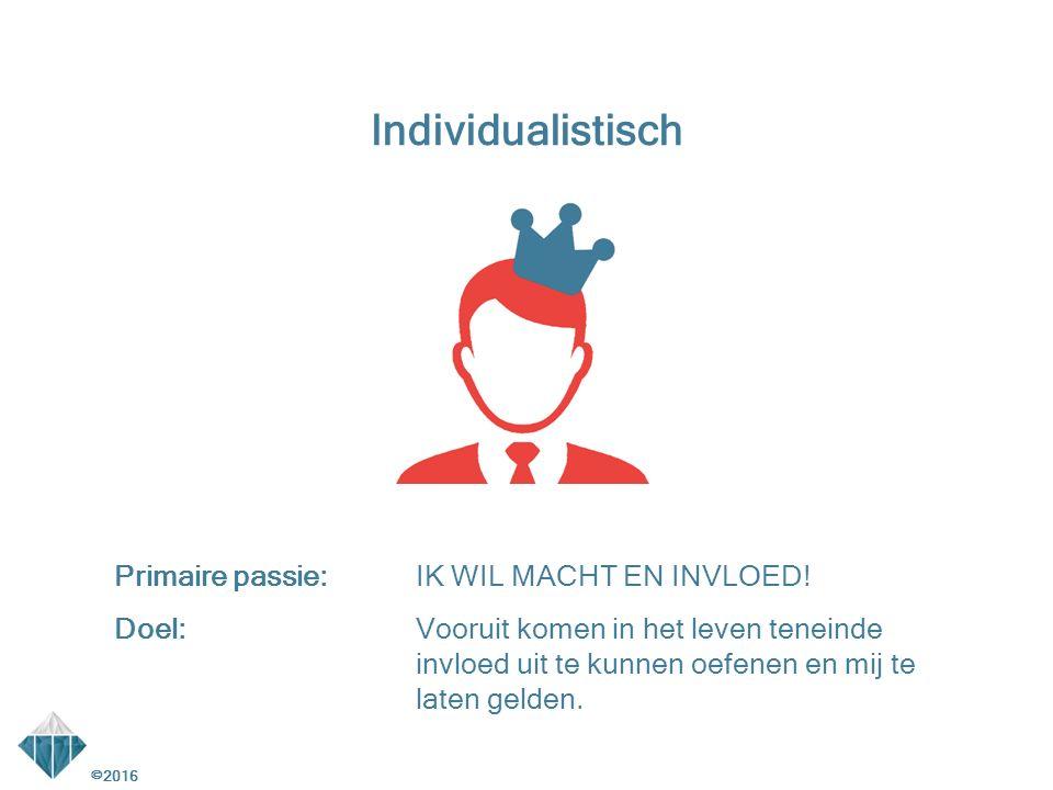 Individualistisch Primaire passie: IK WIL MACHT EN INVLOED!