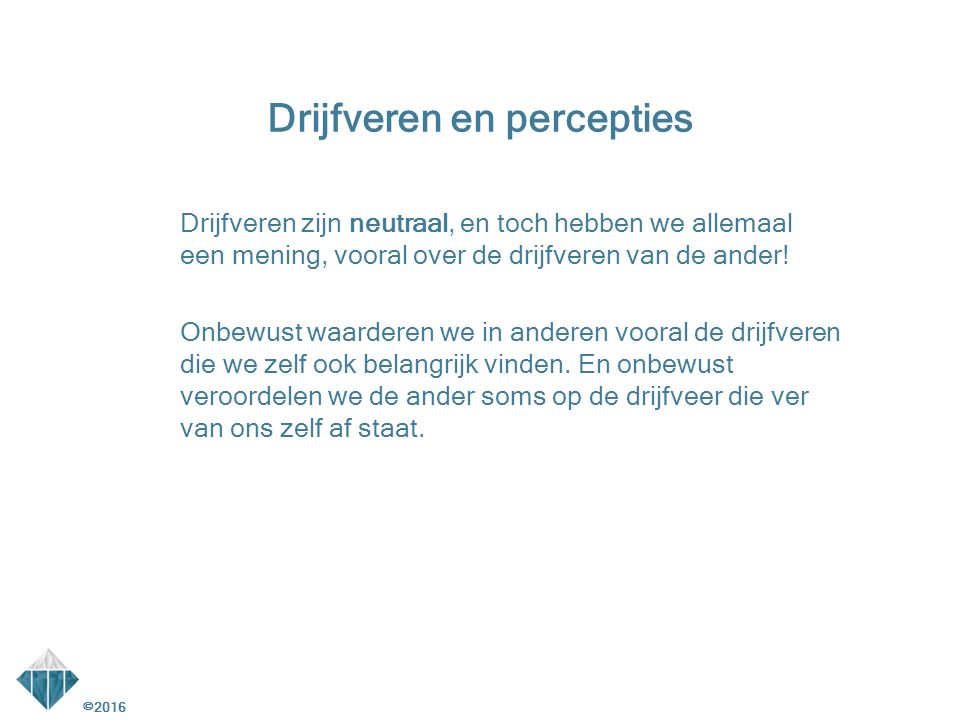Drijfveren en percepties