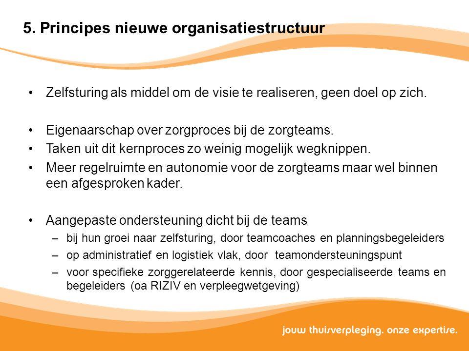 5. Principes nieuwe organisatiestructuur