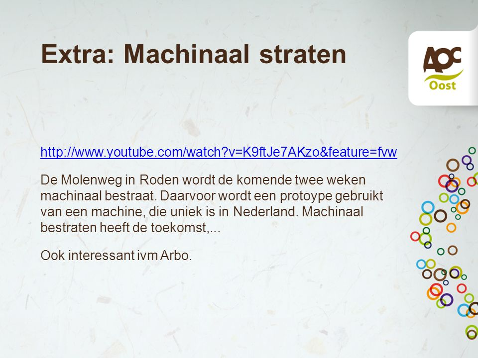 Extra: Machinaal straten
