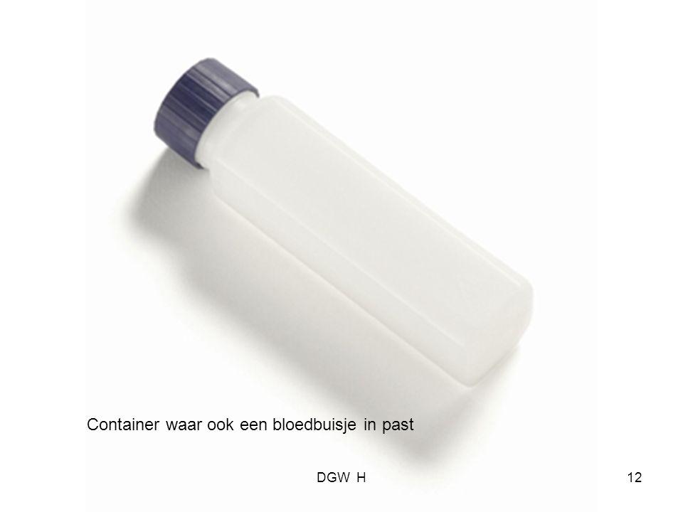 Container waar ook een bloedbuisje in past