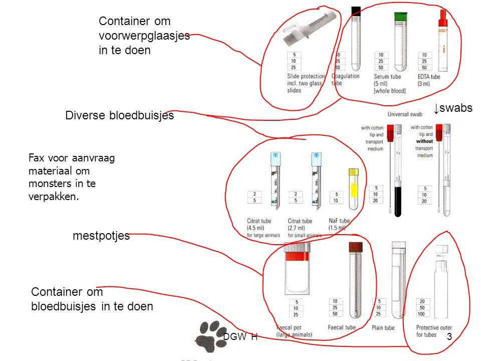 Container om voorwerpglaasjes in te doen