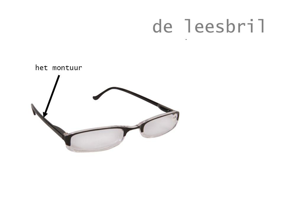 de leesbril het montuur