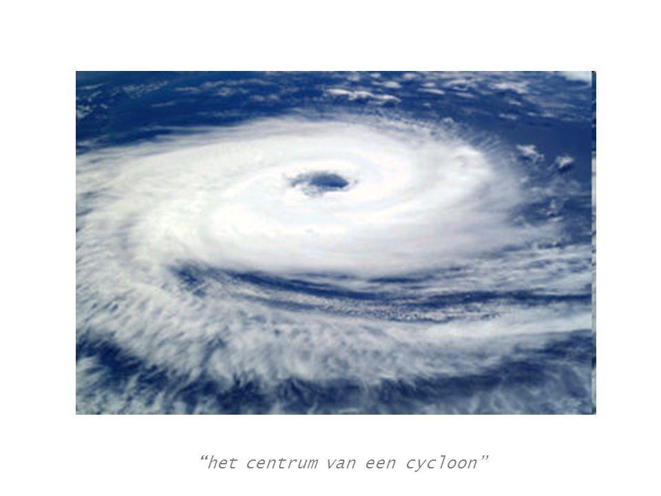 het centrum van een cycloon