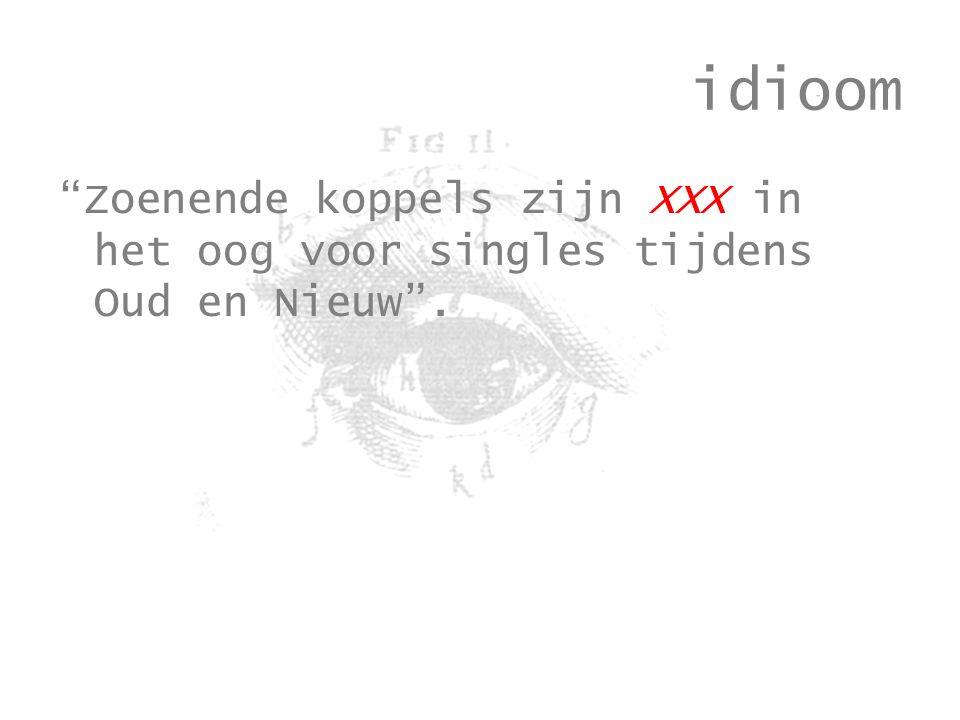 idioom Zoenende koppels zijn XXX in het oog voor singles tijdens Oud en Nieuw .