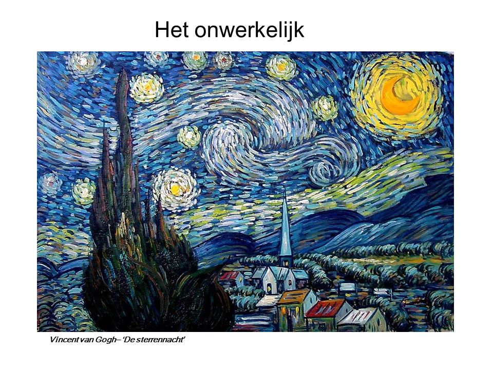 Vincent van Gogh– 'De sterrennacht'