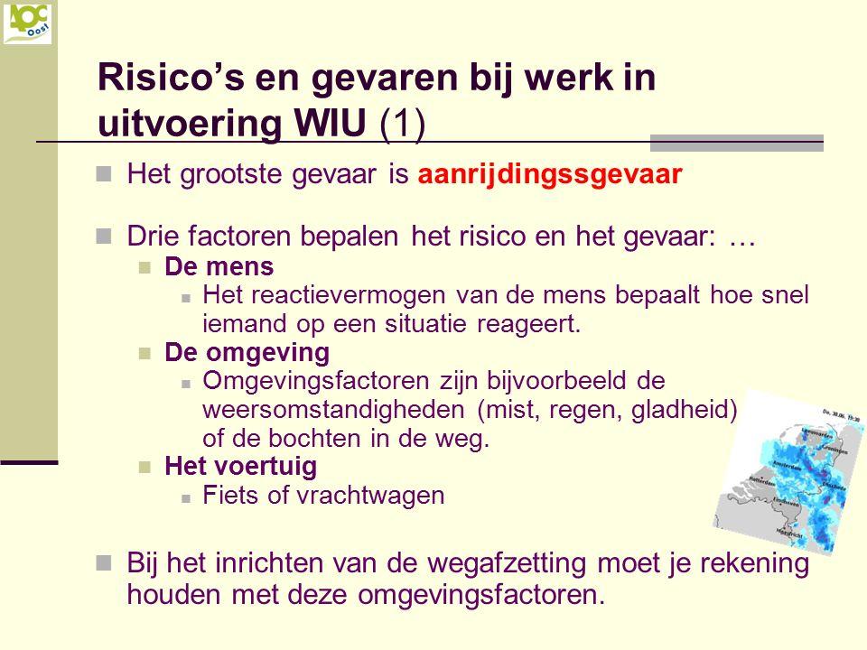 Risico's en gevaren bij werk in uitvoering WIU (1)