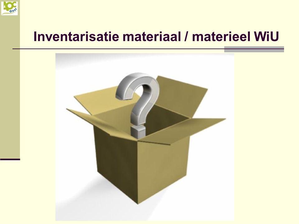 Inventarisatie materiaal / materieel WiU
