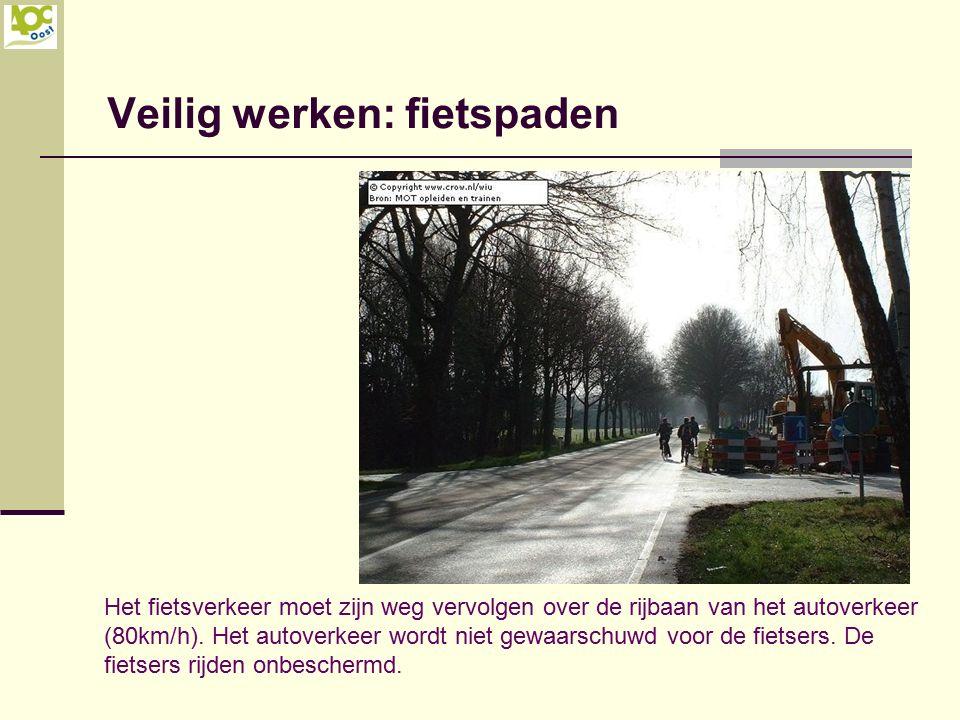 Veilig werken: fietspaden