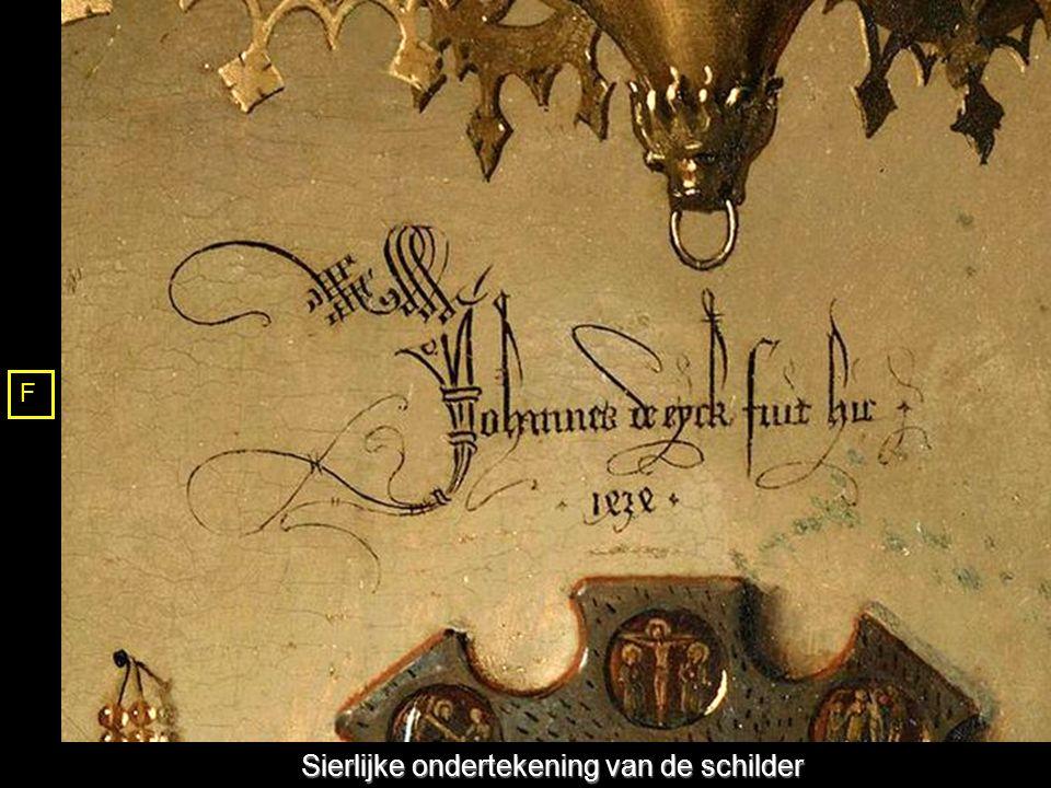 Sierlijke ondertekening van de schilder