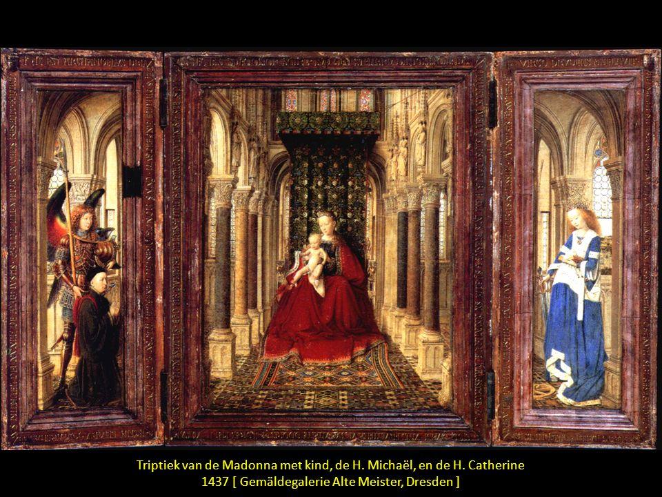 Triptiek van de Madonna met kind, de H. Michaël, en de H