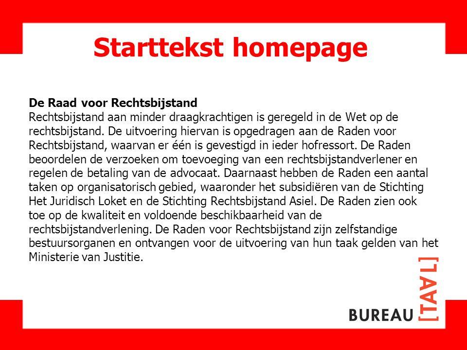 Starttekst homepage De Raad voor Rechtsbijstand