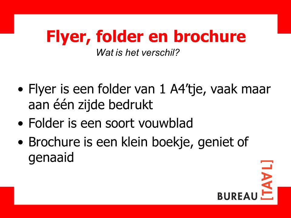 Flyer, folder en brochure