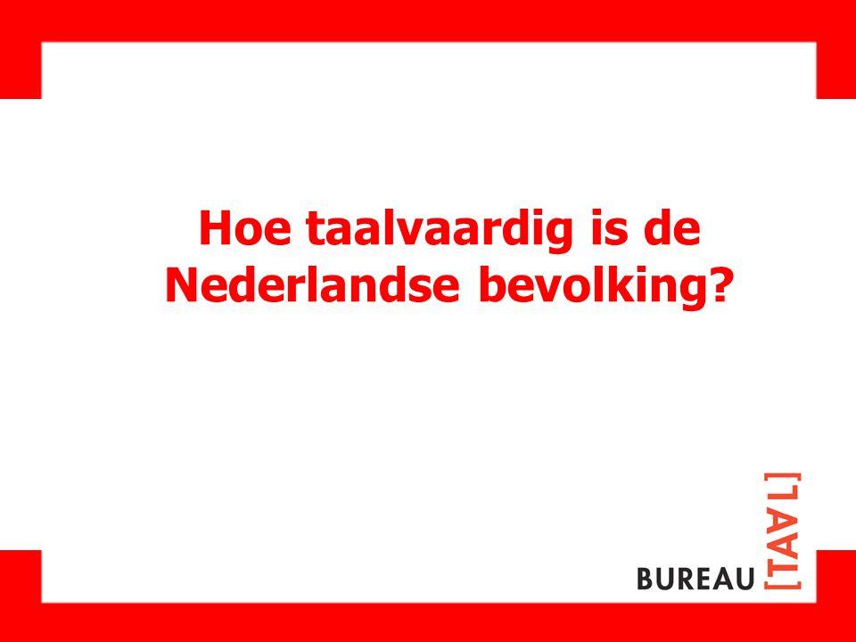 Hoe taalvaardig is de Nederlandse bevolking