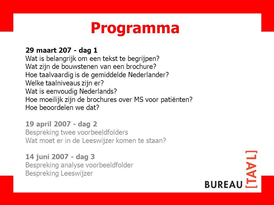 Programma 29 maart 207 - dag 1.