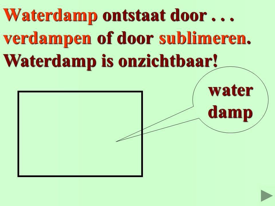 Waterdamp ontstaat door . . .