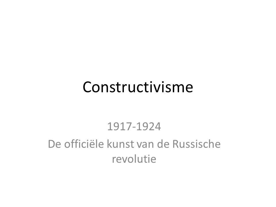 1917-1924 De officiële kunst van de Russische revolutie