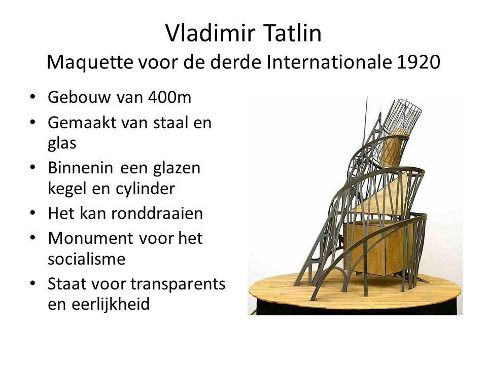 Vladimir Tatlin Maquette voor de derde Internationale 1920