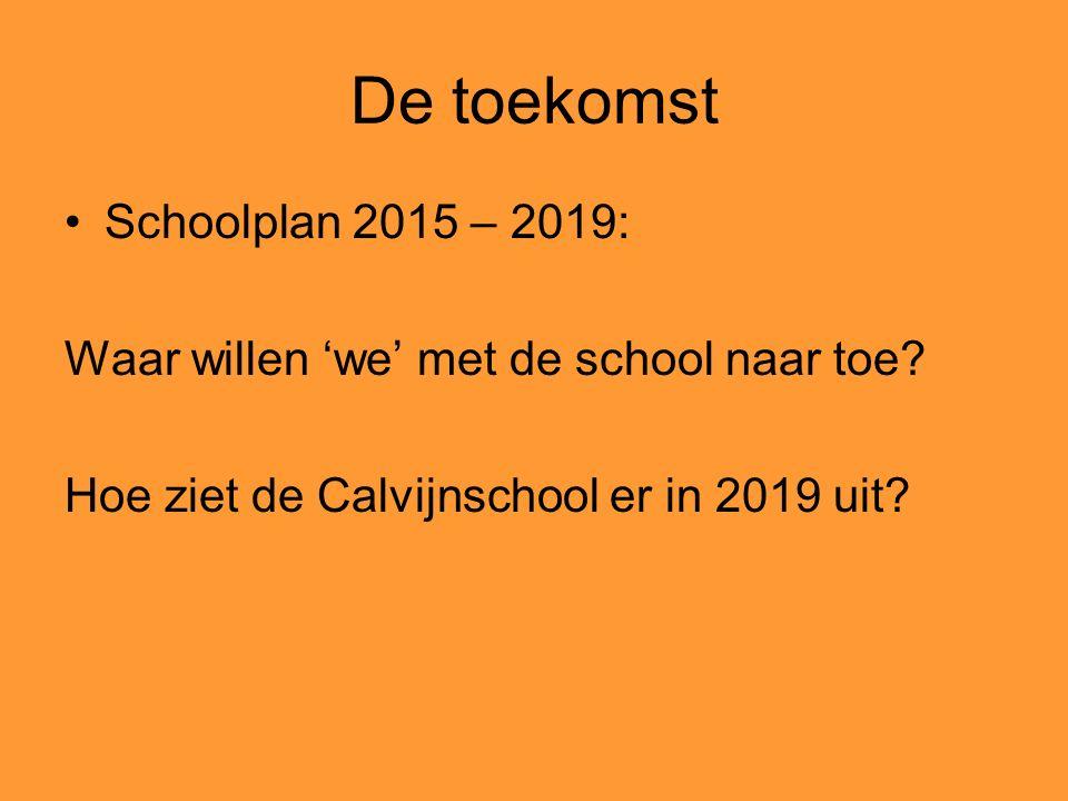 De toekomst Schoolplan 2015 – 2019: