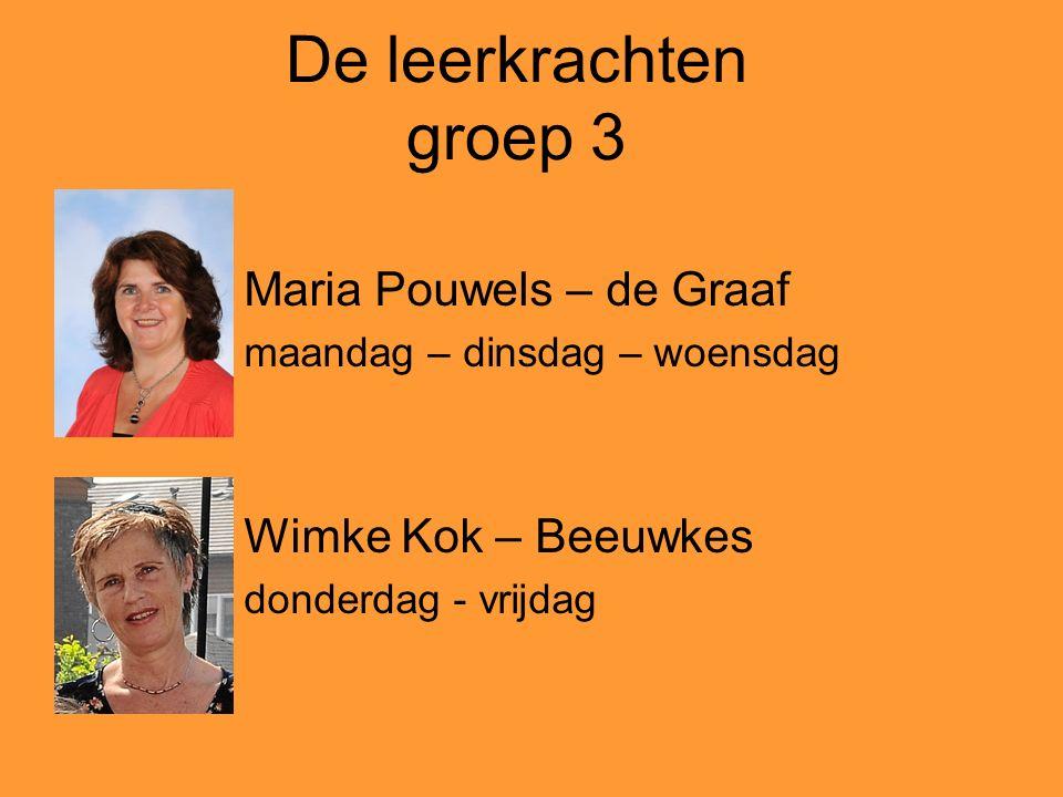 De leerkrachten groep 3 Maria Pouwels – de Graaf Wimke Kok – Beeuwkes