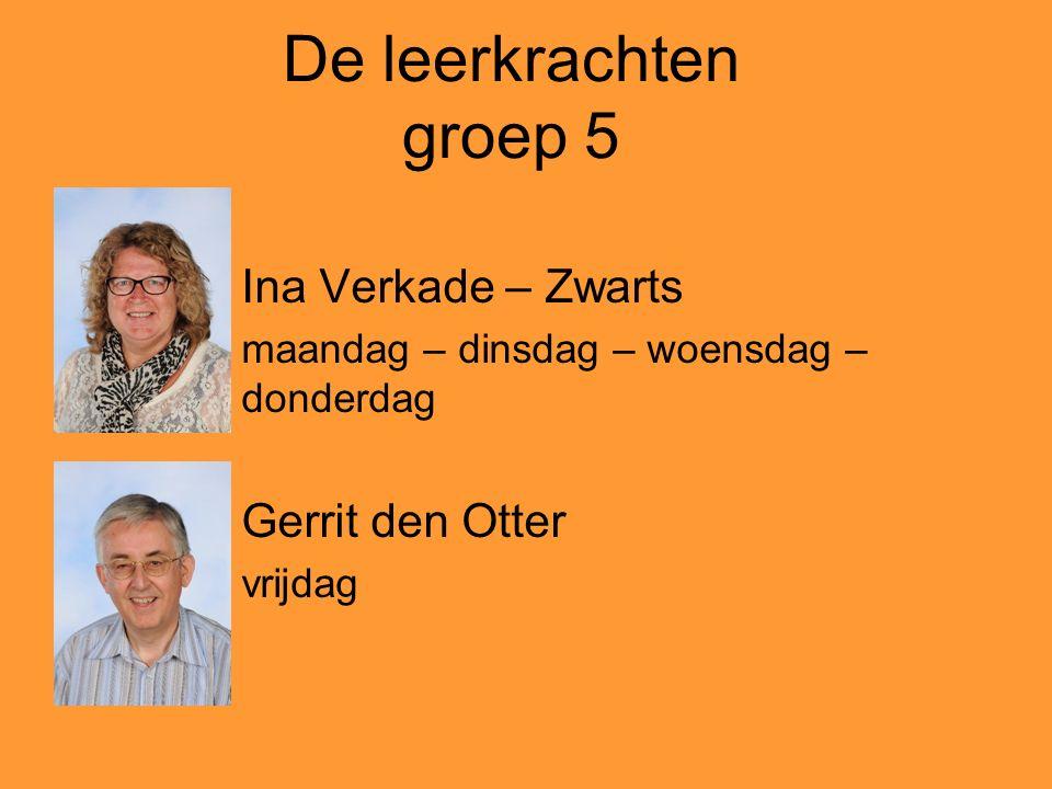 De leerkrachten groep 5 Ina Verkade – Zwarts Gerrit den Otter