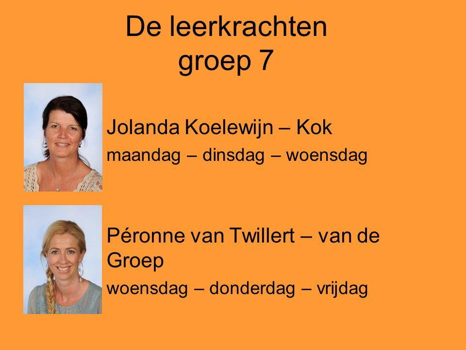 De leerkrachten groep 7 Jolanda Koelewijn – Kok