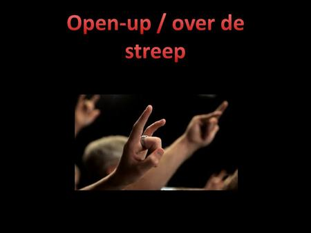 Open-up / over de streep