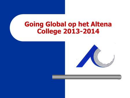 Going Global op het Altena College