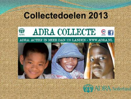 Collectedoelen 2013.