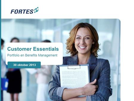 Customer Essentials Portfolio en Benefits Management 30 oktober 2013.