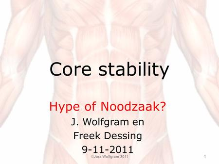 Hype of Noodzaak? J. Wolfgram en Freek Dessing