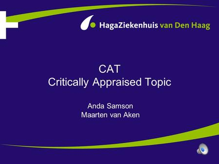CAT Critically Appraised Topic