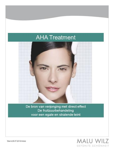AHA Treatment De bron van verjonging met direct effect