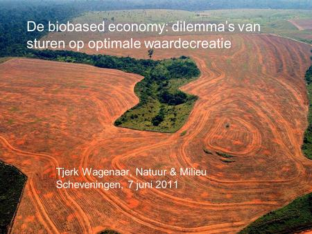 De biobased economy: dilemma's van sturen op optimale waardecreatie