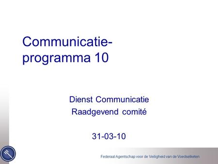 Communicatie- programma 10
