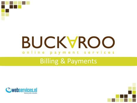 Billing & Payments.